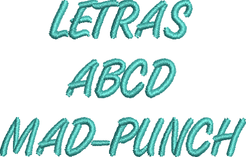 Letras bordado MAD Punch
